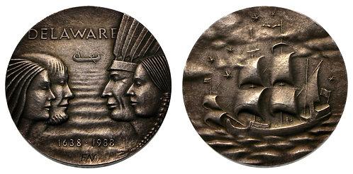 100144  |  UNITED STATES & SWEDEN. Silver Medal.