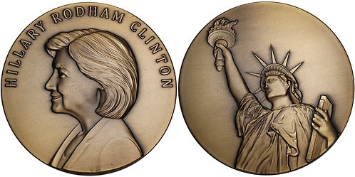 100347     UNITED STATES. Hillary Clinton bronze Medal.