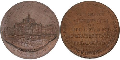 100529  |  UNITED STATES. Centennial black walnut Medal.