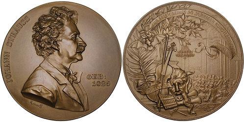 100278  |  AUSTRIA. Johann Strauss II bronze Medal.
