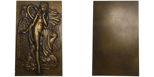 101015  |  FRANCE. Art Deco uniface bronze Plaque.