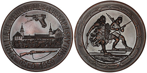 101090  |  NORWAY. Bronze Shooting Medal.