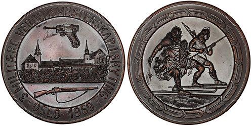 101090  |  NORWAY. Bronze Shooting Medal.