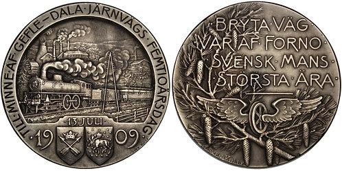 101285  |  SWEDEN. Gävle-Dala Railway silver Medal.