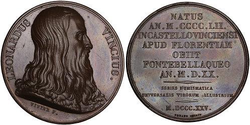 101190  |  ITALY & FRANCE. Leonardo di ser Piero da Vinci bronze Medal.