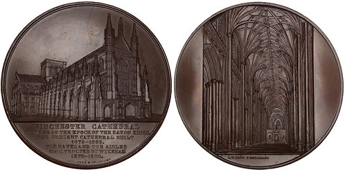 100727  |  GREAT BRITAIN. Winchester Cathedral bronze Medal.