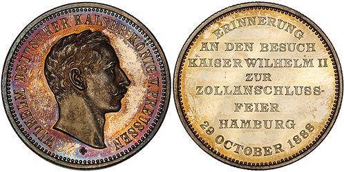 100494  |  GERMANY. Hamburg. Wilhelm II silver Medal.