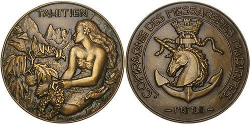 100779  |  FRANCE. Compagnie des messageries maritimes bronze Medal.