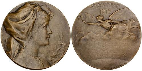 101303  |  FRANCE. End of the War bronze Medal.