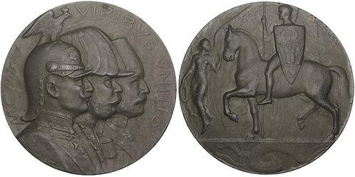 100979  |  AUSTRIA, GERMANY & OTTOMAN EMPIRE. Triple Alliance zinc Medal.