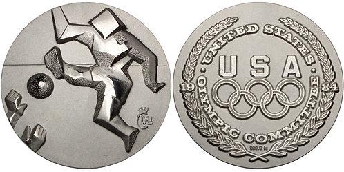 100713     UNITED STATES & SPAIN. Salvador Dalí/Soccer silver Medal.