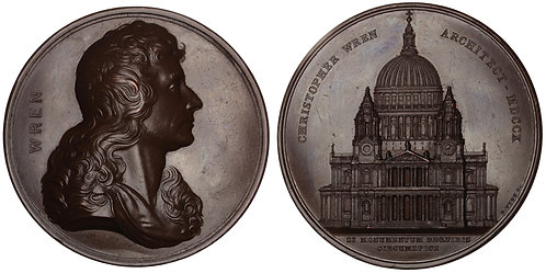100862  |  GREAT BRITAIN. Sir Christopher Wren bronze Medal.