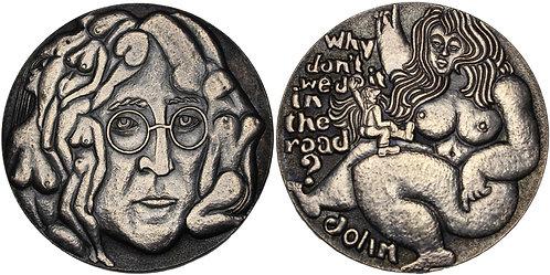 100269  |  GREAT BRITAIN. The Beatles' John Lennon silvered bronze Medal.