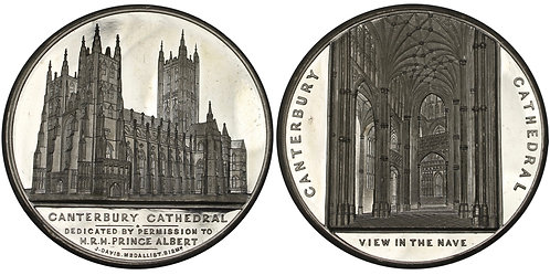 100572  |  GREAT BRITAIN. Canterbury Cathedral white metal Medal.