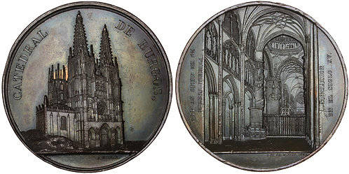 100614  |  SPAIN. Catedral de Santa María de Burgos bronze Medal.