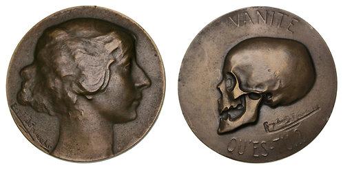 100073  |  BELGIUM. Memento Mori bronze Medal.