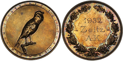 100484  |  GERMANY. Canary Breeders' Association silver Medal.