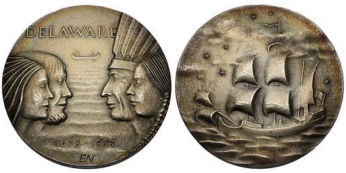 100148  |  UNITED STATES & SWEDEN. Silver Medal.
