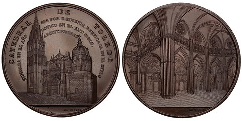 101051  |  SPAIN. Toledo. Primate Cathedral of St. Mary bronze Medal.