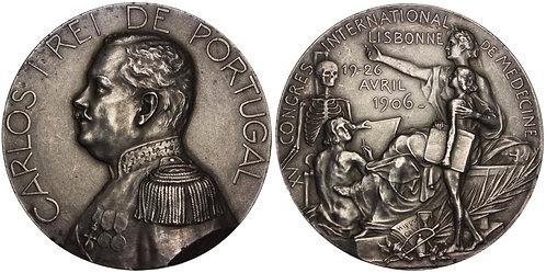 100805  |  PORTUGAL. Carlos I silver Medal.
