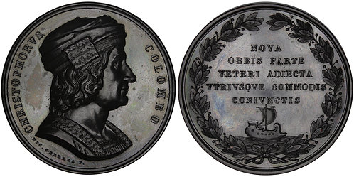 100970  |  UNITED STATES & ITALY. Christopher Columbus bronze Medal.