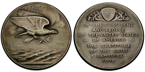 100158     UNITED STATES & SWITZERLAND. Silver Medal.