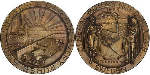 100502  |  UNITED STATES & SWEDEN. GM Nordiska AB bronze Medal.