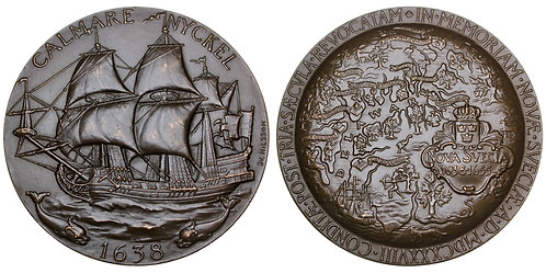 101686  |  UNITED STATES & SWEDEN. 300th Anniversary of New Sweden bronze Medal.