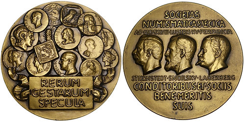 101542  |  SWEDEN. Swedish Numismatic Society bronze Medal.