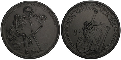 101066  |  GERMANY, GREAT BRITAIN & IRELAND. Satirical cast iron Medal.