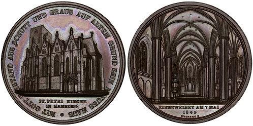 101495  |  GERMANY. Hamburg. St. Peter's Church bronze Medal.