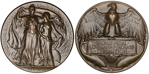 101290     UNITED STATES. Louisiana Purchase/St. Louis Int'l Expo bronze Medal.