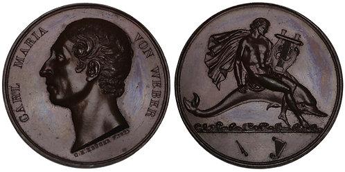 101133  |  GERMANY. Karl Maria von Weber bronze Medal.