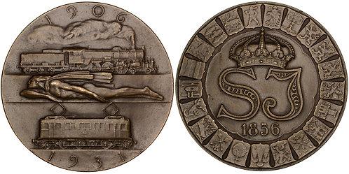 101335  |  SWEDEN. State Railways bronze Medal.