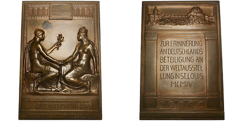101115  |  UNITED STATES. Louisiana Purchase Int'l Expo bronze award Plaque.