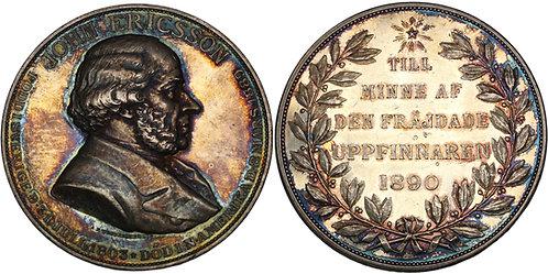 100366     UNITED STATES & SWEDEN. John Ericsson silver Medal.