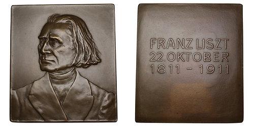 100279  |  HUNGARY. Franz Liszt bronze Plaque.