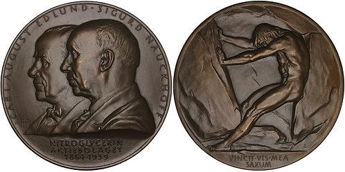 100631  |  SWEDEN. Carl August Edlund & Sigurd Nauckhoff bronze Medal.