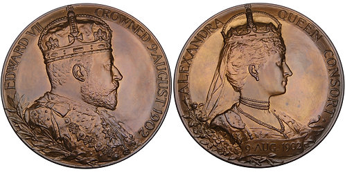100574  |  GREAT BRITAIN. Edward VII with Alexandria bronze Medal.