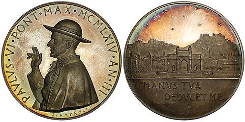 101062  |  ITALY. Vatican City. Pope Saint Paulus VI silver Medal.