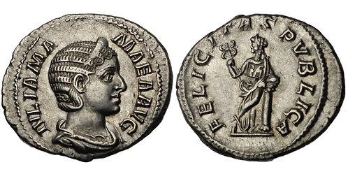 100228  |  ROMAN EMPIRE. Julia Mamaea silver Denarius.