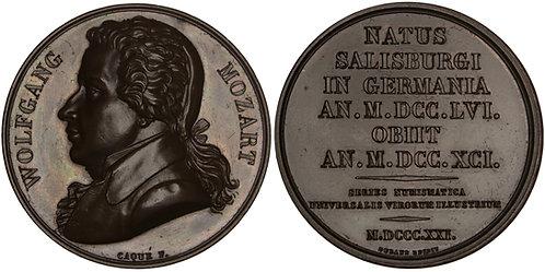 101241  |  AUSTRIA & FRANCE. Wolfgang Amadeus Mozart bronze Medal.