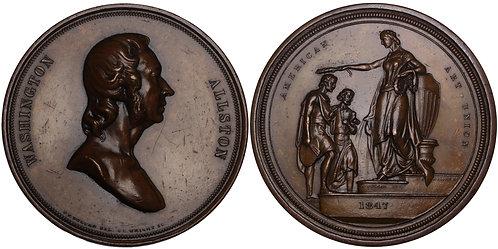 100394  |  UNITED STATES. Washington Allston bronze Medal.