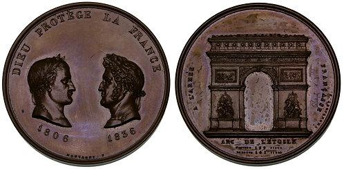 100104  |  FRANCE. Napoleon I & Napoleon III bronze Medal.