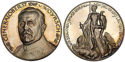 101292  |  GERMANY. Generaloberst Martin Wilhelm Remus von Woyrsch silver Medal.