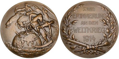 101584  |  GERMANY. Four Horsemen/Propaganda bronze Medal.