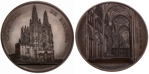 101050  |  SPAIN. Burgos. Cathedral of St. Mary bronze Medal.