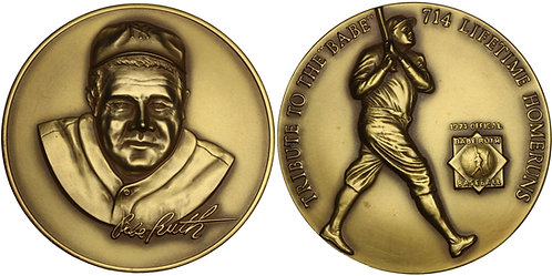 100359  |  UNITED STATES. George Herman 'Babe' Ruth gilt silver Medal.
