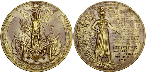 101751  |  UNITED STATES. Chicago, Illinois. Automobile gilt bronze Award Medal.