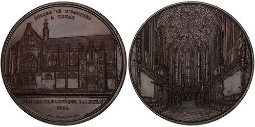 100725  |  BELGIUM. Église Saint-Jacques à Liège bronze Medal.